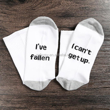 2018 Nice looking And Amusing Womans Decorative Socks With I've Fallen I Can't Get Up Socks Printing
