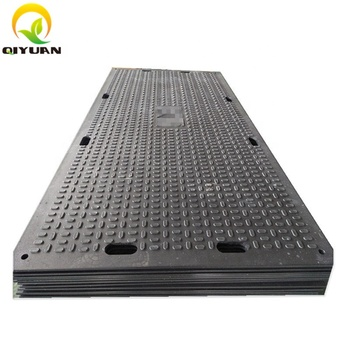 HDPE excavator trackway 4x8 ft ground protection mats for heavy