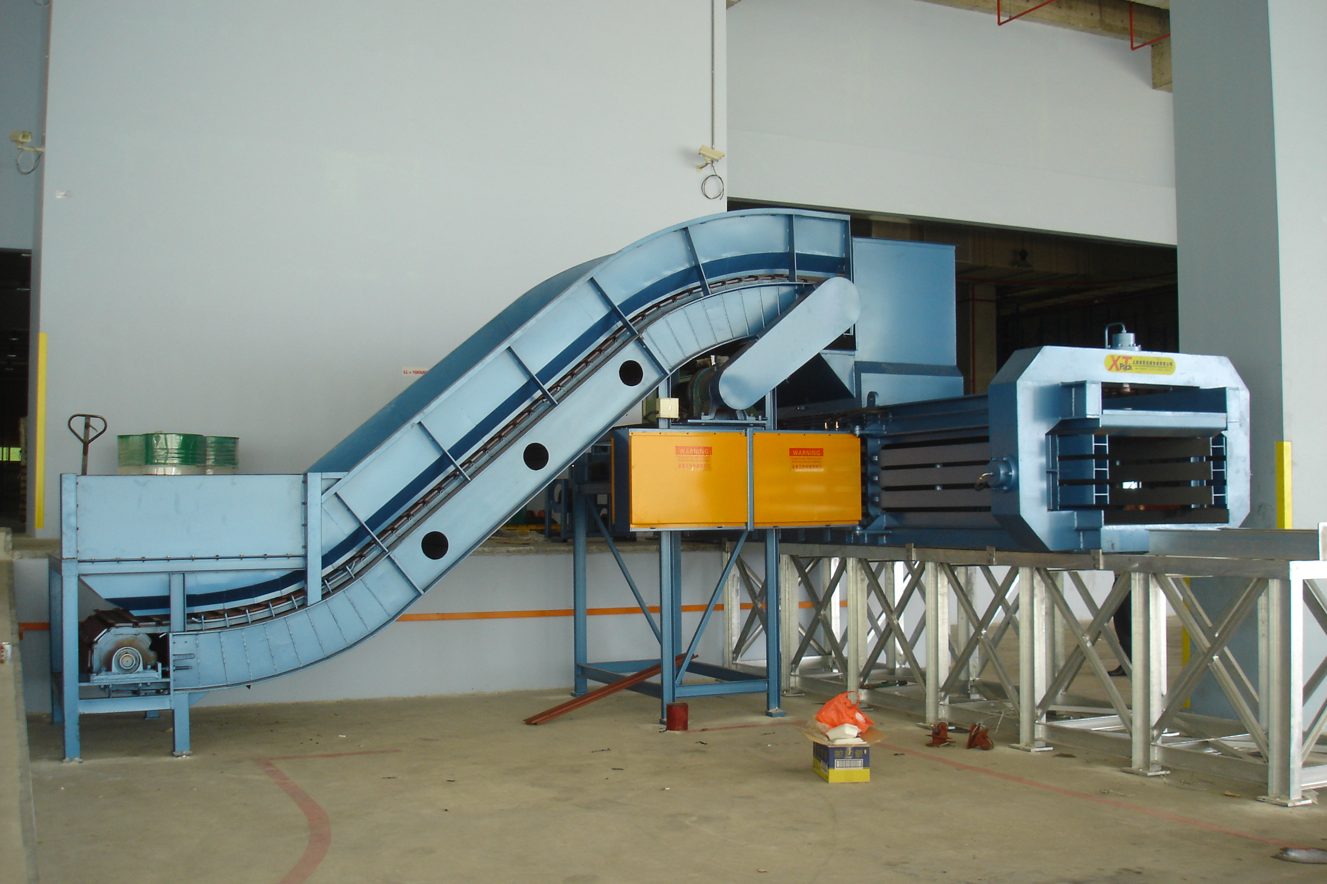 Automatic Horizontal Waste Paper Compressor Baling Press Machine