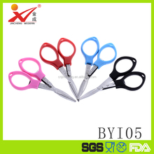 4 colors choose small folding scissors Plastic pocket scissors cheap