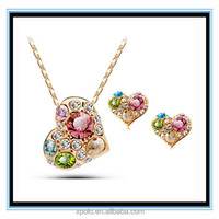 FACTORY PRICE bridal jewelry set , heart pendant jewelry set for Christmas day