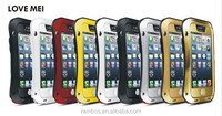 Mobile Phone Accessories Heavy Duty Love Mei Aluminum Powerful Case for iPhone 4 4S