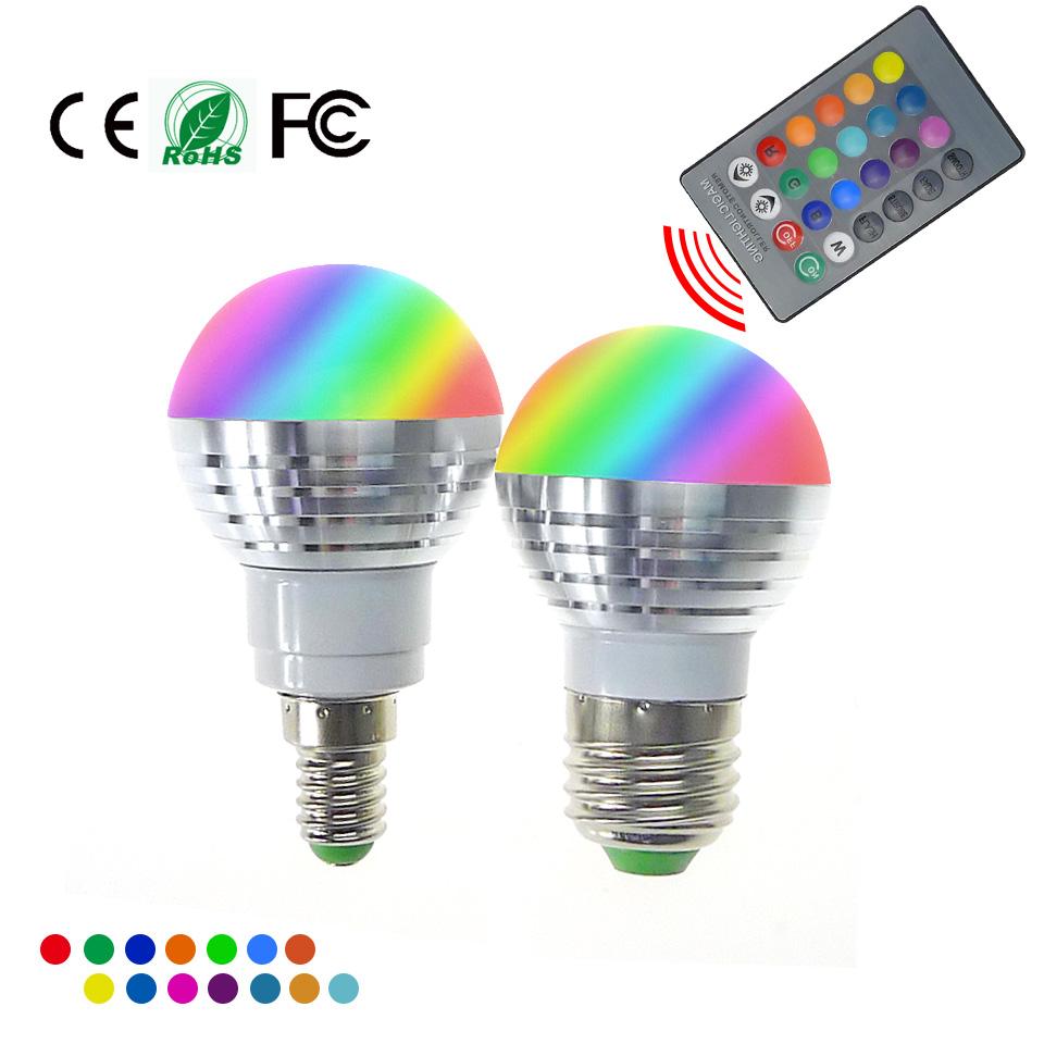 lampadina led rgb : Lampadine a led rgb e27 e14 3w led rgb lampadina ac85-265v telecomando ...