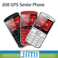 JIMI hottest GPS Senior Phone GPS+LBS Dual Positioning mobile phone with gps tracker JI08