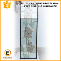 Popular fashion Stained glass for doors