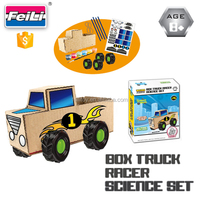 hot creative DIY science kit box truck racer painting toys set