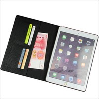 For iPad 2017 foldable pu leather smart cover tablet case