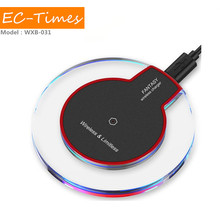 Designed specifically transparent light wireless charger for iphone samsung qi