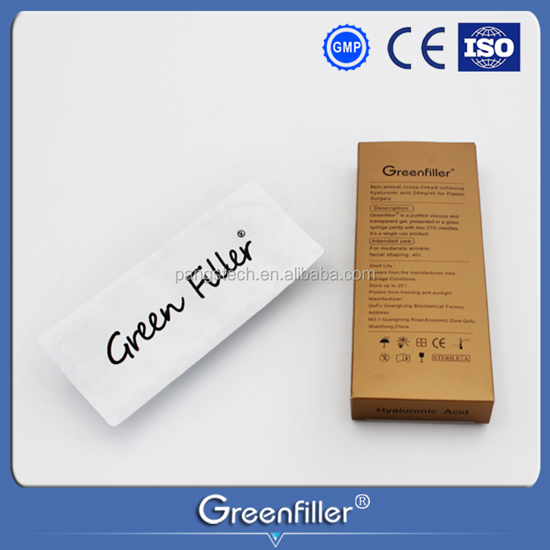 Green filler Derm Line 2ml Anti-aging Products HA Injections Hyaluronic Acid Filler For Lip Fullness