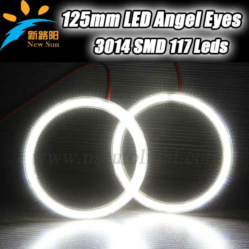 Car accessories led angel eyes ring 125mm car head lights 7000K high brightness SMD led angel eyes 9-16V DC for universal cars