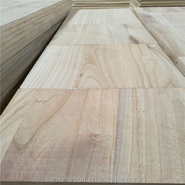 19mm paulownia jointed board used for furniture