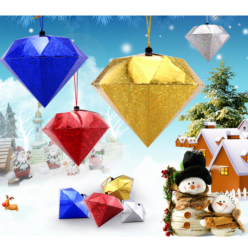 Christmas decorations three-dimensional laser diamond ball lob a gold jewelery hotel bar