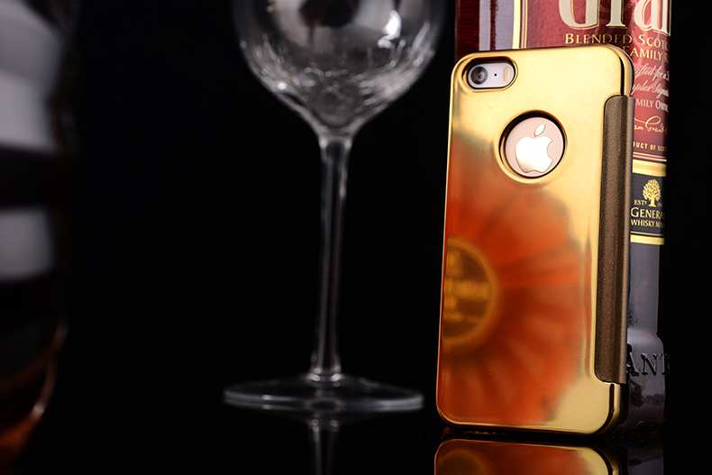 For Apple iphone 5 5s Case, Case for iphone 5s Luxury Interactive Clear View Smart Mirror Flip cover case for iphone 5 5s