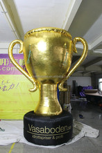 costomized Chinese style giant golden inflatable trophy cup