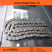 China Wholesale black four riveted 428-112L motorcycle chain and parts