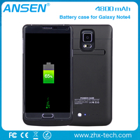 external power charging case Power Pack Backup 4800mAh Battery Case For Samsung Galaxy Note 4 in stock