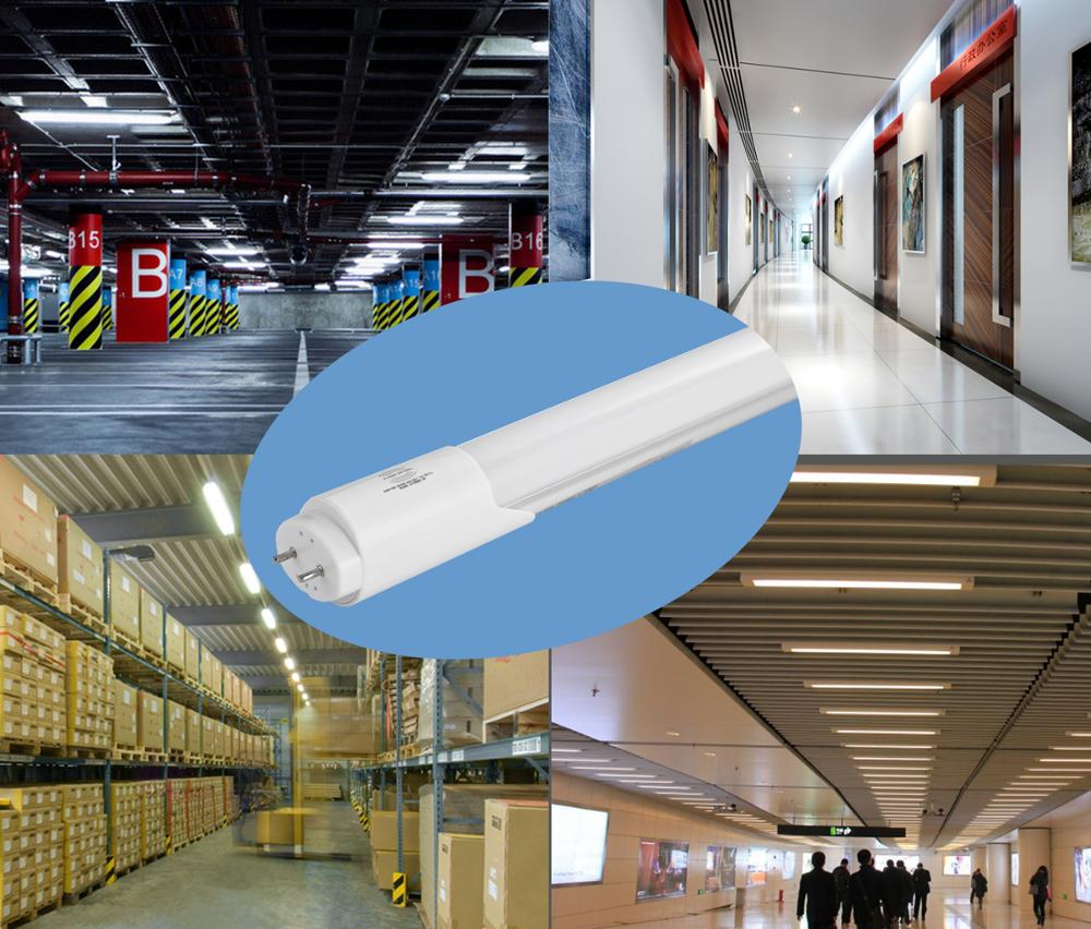 9W 14W 18W lamp rechargeable emergency microwave sensor light t8 led tube with motion sensor