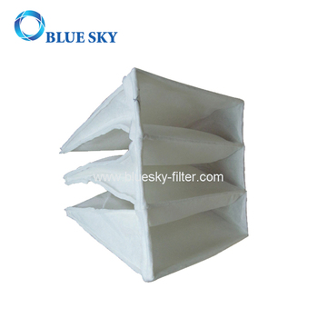 Synthetic Fiber Pocket Bag Filter Dust Collector of F5 Efficiency