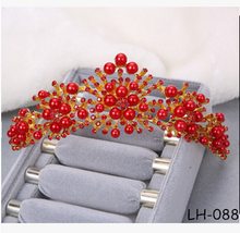 Wholesale beauty queen crown red crowns for sale