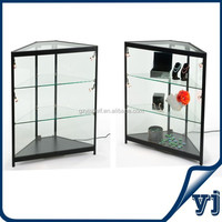 Factory outlet glass shopping mall kiosk jewelry store showcase and counter