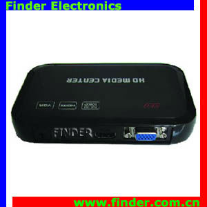 Full HD media player 1080p, support VGA, AV Composite video and YUV Component video output