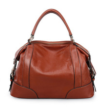 Soft leather women tote bag , new design leather women handbag