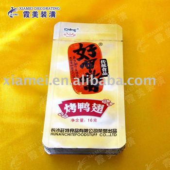 3 sides heat sealed packaging bag cooked meat retort pouch