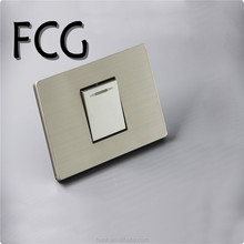 Grey stainless steel Panel Material,American type, 1 gang 1 way switch home used, electrical wall switch