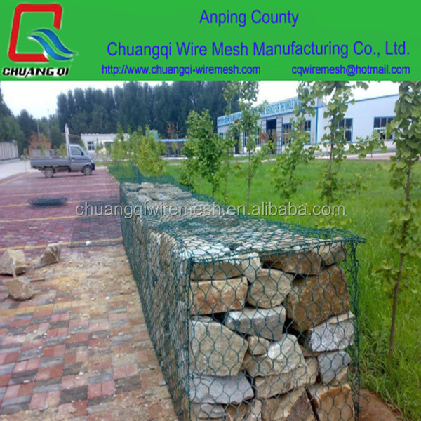 rock filled gabion cages