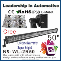 9-32VDC 4x4 accessories 52inch 300watt off road led lights bar for jeep wrangler
