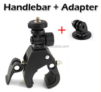 Go Pro Accessories Bike Bicycle Motorcycle Handlebar Handle Bar Camera Mount +Tripod Adapter For GoPro Hero 4 3+ sj4000