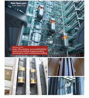 VVVF CE ISO approved good Quality Panoramic Elevator glass elevator | glass lift | panoramic elevator