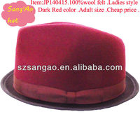 Customized /wholesale wool felt derby hat woman fedora fashion alpine cap 100%wool felt wears mini hats/hair caps/Suit clothes