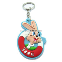FREE MOLD custom 3d rubber keychain soft pvc keyring