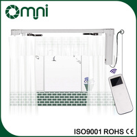 Newest different styles of motorized retractable curtain