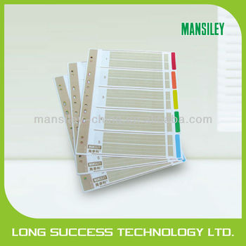 5 sheets paper index divider