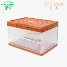 Clear Plastic Folding Boxes Flat Plastic Containers Foldable for Sale