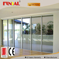 High quality wood-aluminum thermal break sliding door with low-e glass