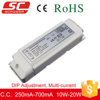 SC LED Driver 10W-20W DALI DIP adjustment dimmable led constant current driver