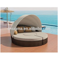 Sigma hotel pool furniture rattan daybed outdoor sunbeds beach for sale