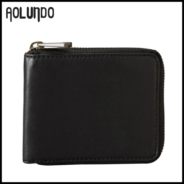 2016 fashion style cowhide leather zip around leather wallets for men
