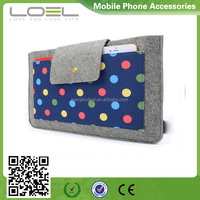 canvas with wool felt material sleeve bag for laptop cover case