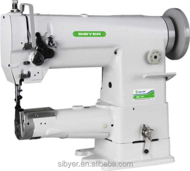 341 single needle compound feed cylinder industrial sewing machine with binding system