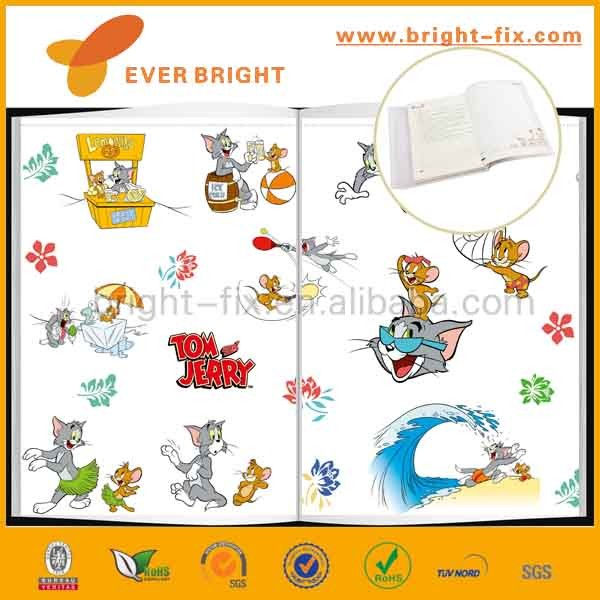 hot sale childish self adhesive or non adhesive cartoon clear book cover