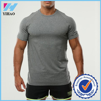Men's Gym Shirts GYM Wear T Shirt Men Fitness Bodybuilding Workout Cothes Terry Cotton High Elastic mens 2016 new design tee