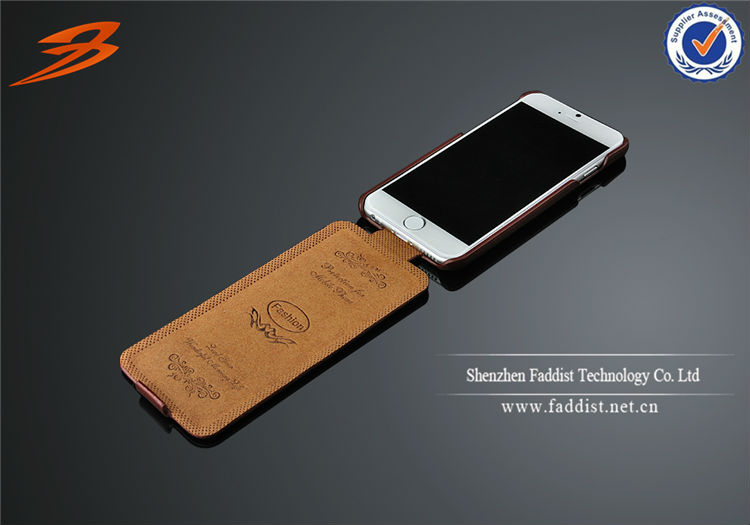 RETRO brown flip cover case for iphone 6 luxury leather case