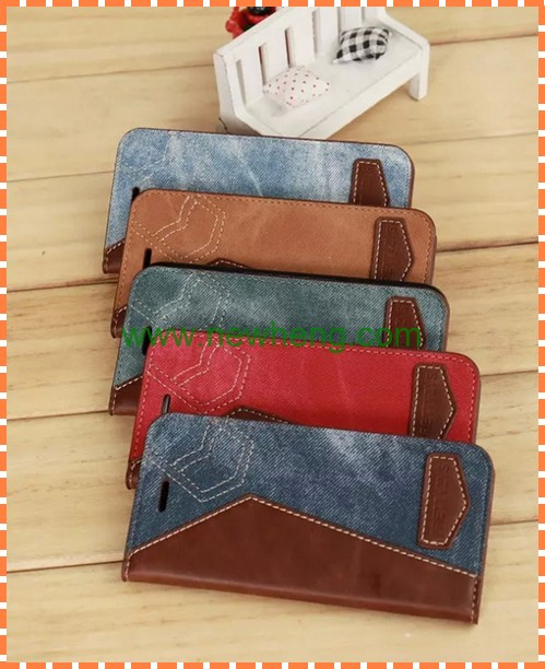 Jean Leather Case for iphone 7 Wallet Pocket with Card Slot Stand Case for iPhone 7 Plus