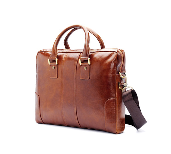 new fashion custom gift executive laptop genuine leather men briefcase