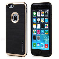 Newest design motomo phone case for iphone 5se/6s/6s+ shockproof hybrid PC+TPU brushed armor mobile phone case
