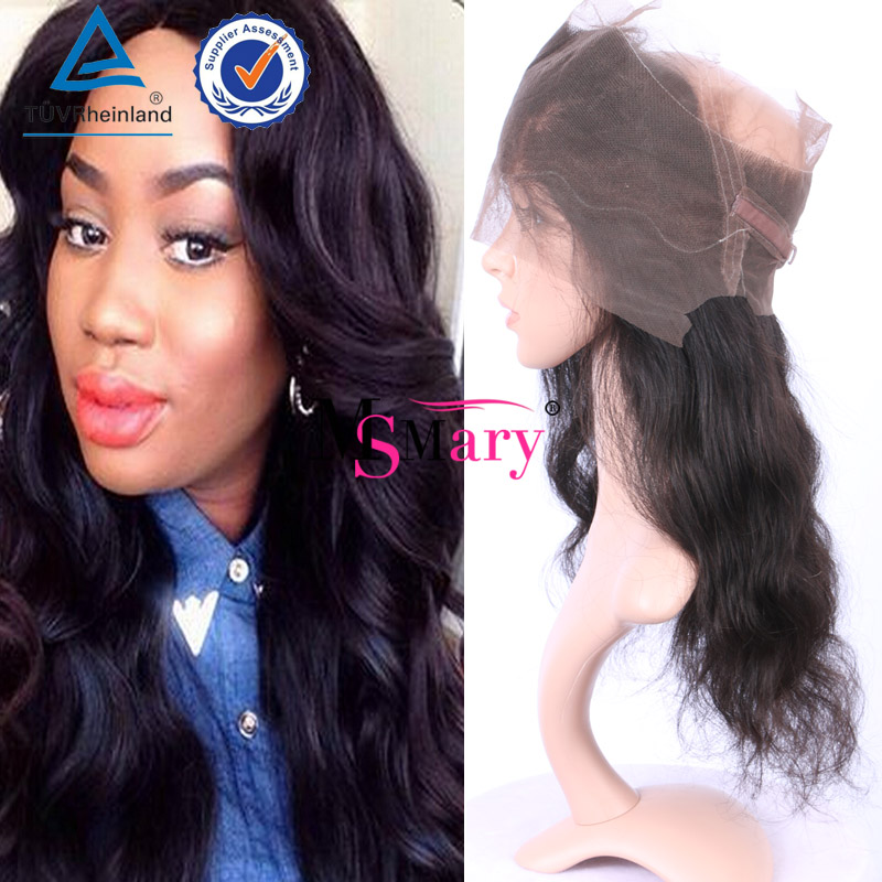 Aliexpress Brazilian Hair Frontal 100% Unprocessed Virgin <strong>Human</strong> 360 Lace Frontal With Natural Hair Line